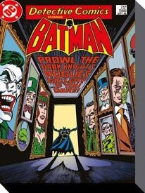 Batman Rogues Gallery Framed Canvas