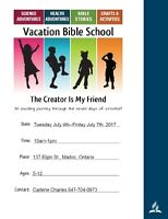 FREE - Vacation Bible School  -  The Creator is Your Friend!