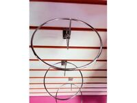 10*Hat Ring Arms Slatwall Gridwall Display