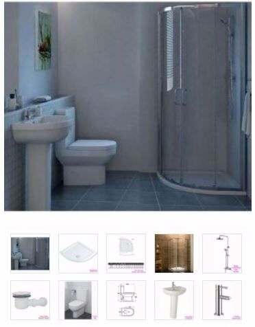 curve rainshower ensuite package from as low as £495