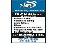 New Steel for sale, Hollow Section, Angle, Flat, Plate, H Iron etc