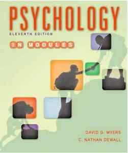 Psychology in Modules 11th ed - Loose Leaf TEXTBOOK - PSYC 1010
