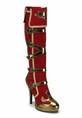 Funtasma 4 1/2'' Heel 5 Buckle Strap Carnival Platform Knee Boot Womens Shoe - Buckle Strap Knee Boot