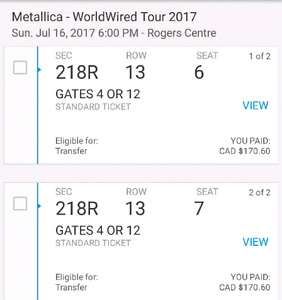 Metallica at Rogers Centre July 16