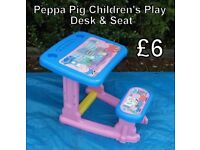 Peppa Pig Children's Play Desk & Seat