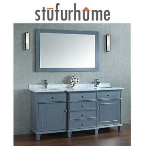 "NEW* STUFURHUME CADENCE VANITY 72"" HD-7000G-72-CR 219527731 DOUBLE SINK"