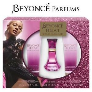 NEW WOMEN'S 3PC BEYONCE HEAT SET 159456938 WILD ORCHID PERFUME COLOGNE BEAUTY FRAGRANCE SCENTS