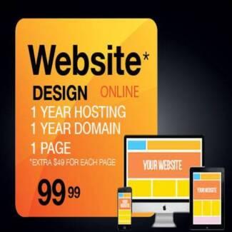 Website Design $99 Only