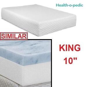 "NEW HEALTH-O-PEDIC MEMORY MATTRESS - 118916706 - KING 10"" GEL FOAM BEDDING BEDS BEDS BEDROOM FURNITURE"