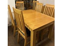 Extending Dining Table and Six Matching Chairs