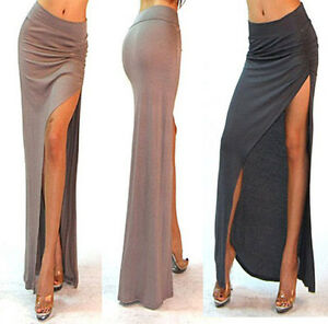 a3 minimalist thigh high slit ruched fitted split