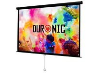 "Duronic Projector Screen 100"" Manual Pull Down"