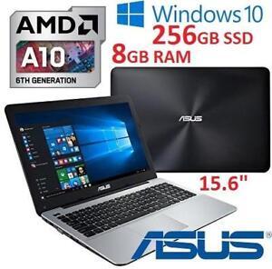 REFURB ASUS 15.6 LAPTOP PC X555DA-AS11 145184498 A10 8700P 8GB RAM 256GB SSD WIN 10 OS COMPUTER NOTEBOOK