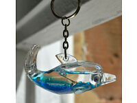 Two Liquid Dolphin Keyrings