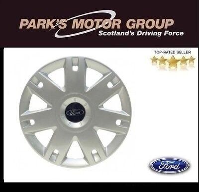 "Genuine New Ford Fiesta Fusion 15"" Inch Wheel Trim Silver Single - 1320901"