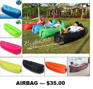 Outdoor Inflatable Portable Air Beach Bed Camping Sofa Sleep bag