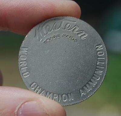 #4 VINTAGE WINCHESTER WESTERN TRICK TARGET COIN TOKEN EXHIBITION SHOOTING SHOWS
