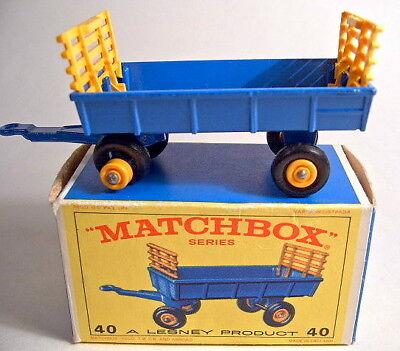 Matchbox RW 40C Hay Trailer blau neuwertig in