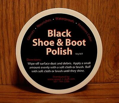 BLACK ~ Boot & Shoes ~ The BEST made Polish for coloring and Shinning!