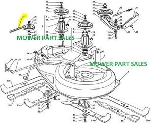 261217537513 together with 231004118417 further T24782294 Mtd 42 zero turn transmission belt further 330745218194 additionally Belt replacement on mod  917. on husqvarna lawn mower deck parts