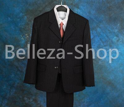 SALE: 5 pcs Set Boys Stripe Formal Tuxedo Suit Party Wedding Size 3T-8 ST010B