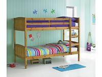 Detachable Single Bunk Bed Frame - Pine RRP £199.99