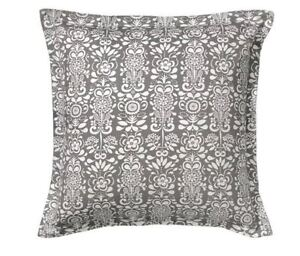 IKEA Grey and white floral reversible cushion covers (3) - New!
