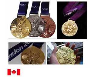 2012 London Olympic Medal Set with Silk Ribbons & Display Stands !!!