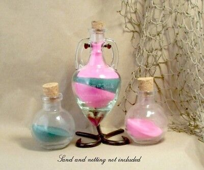 Personalized Unity Sand Ceremony Set - Amphora style with Cork Stoppers - Unity Sand Set