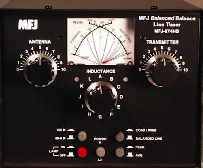 MFJ-974HB HF/6M (1 8-54MHz) Manual Balanced Line Tuner w/ SWR