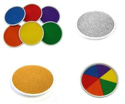 Large Giant Paint Inking Pads Childrens Hand Foot Prints Painting Mixed Colours
