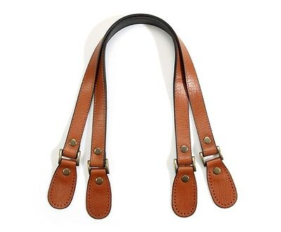 byhands Genuine Leather Purse Handles, Bag Strap w/Crack Pattern, Tan, 23.8""