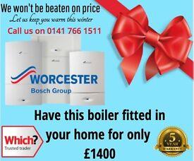 Boiler Replacement - Glasgow -Worcester Bosch 30I ( 5 year warranty ) &1400