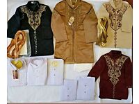 Job lot sherwanis complete sets.lawn kids kurtas with trousers.