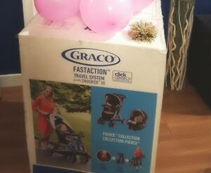 GRACO STROLLER CAR SEAT AND CAR SEAT BASE