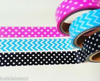Target One Spot Pink Black Blue Washi Tape For Kikki K Filofax X3