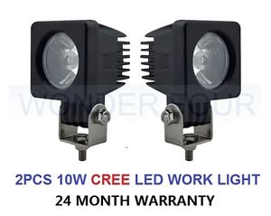 2PCS 10W LED HIGH POWER REVERSE LAMP WORK LIGHT SPOT/FLOOD LIGHT12V 24V