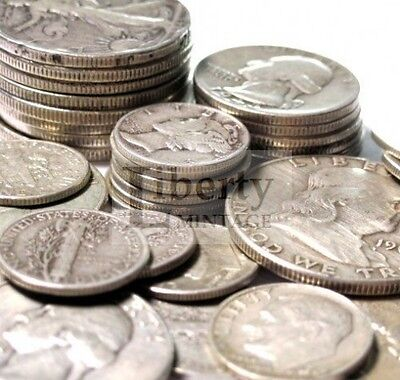 1 Face Value   90  Silver U S  Coin Lot   Half Dollars  Quarters Or Dimes