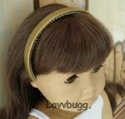 "Lovvbugg Gold Headband for 18"" American Girl Doll Accessory"