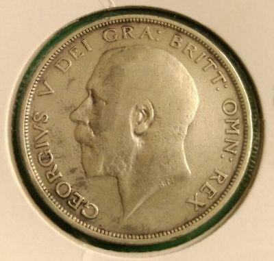 1914 George V Silver Half Crown British (Sterling) silver .