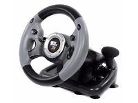 Datel Super Sports 3X Steering Wheel (PS3/Xbox 360/PC) + pedals
