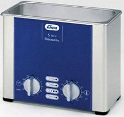 Elma Elmasonic S10h 0.8 Liter Heated Ultrasonic Cleaner And Basket New