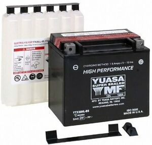 NEW Genuine Yuasa YTX20HL-BS Dry Charged Motorcycle Battery 12V 18Ah 310CCA AGM