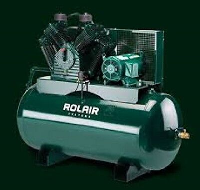 Rolair 7.5hp Single Or 3 Phase Constant Run Electric Air Compressor W60 Gallon
