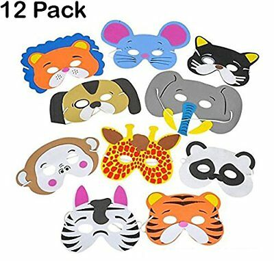 Foam Funny Animal Mask - 12 Pack, For Kids & All Ages, Party, - All Ages Halloween Party