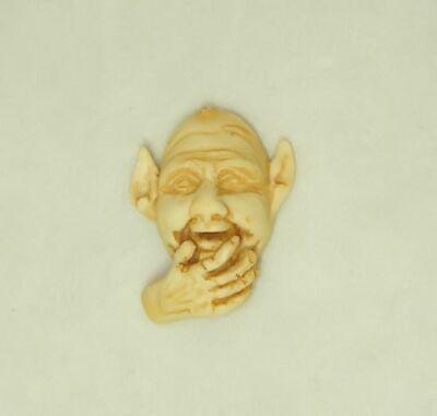 Miniature Elf Face Haunted Magic Garden Ornament for 1:12 Scale Dollhouse Scene - Elf Scenes