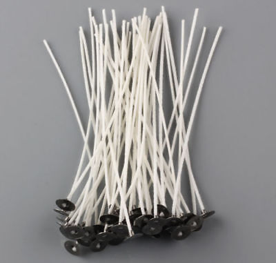 50 Candle Wicks 8 Inch Candle Making Supplies MADE AND SHIPPED IN USA!