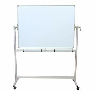 Viz-pro Mobile Whiteboard Magnetic Dry Erase Board Double Sided With Stand 48x36