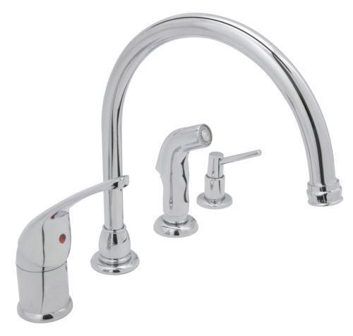 Kitchen Faucet With Side Sprayer Ebay