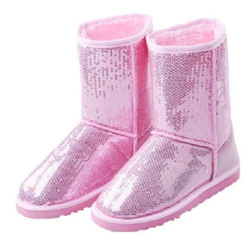 pink glitter boots ebay